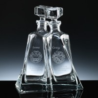 Pair Modern Lovers Entwined 600ml Decanter, Single, Blue Boxed